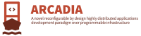 ARCADIA - A NOVEL RECONFIGURABLE BY DESIGN HIGHLY DISTRIBUTED APPLICATIONS DEVELOPMENT PARADIGM OVER PROGRAMMABLE INFRASTRUCTURE